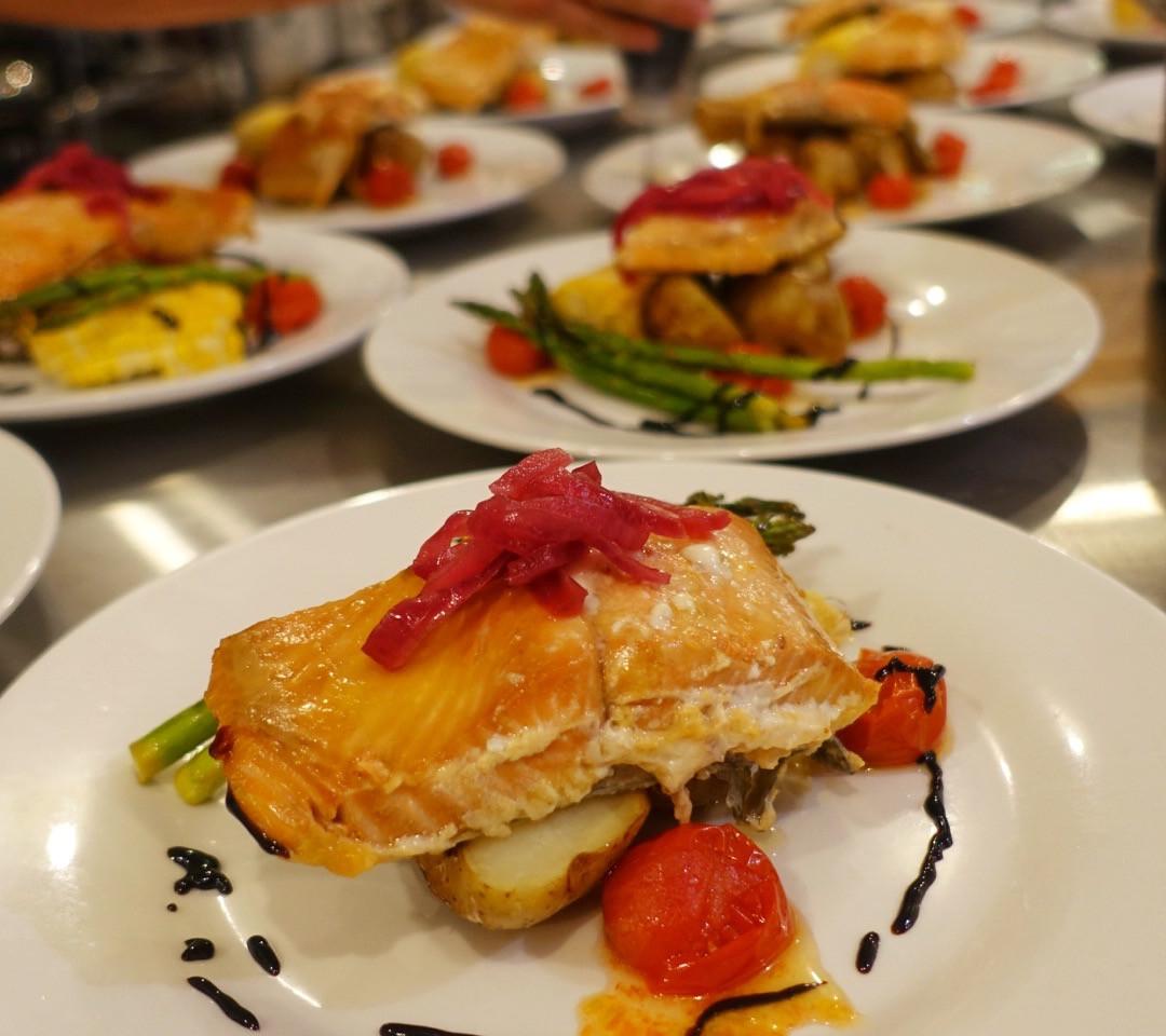 Meals at Klahoose Wilderness Resort