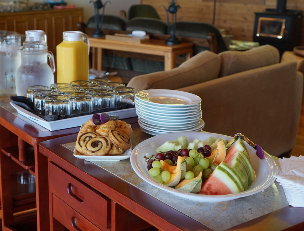 Snacks at Klahoose Resort