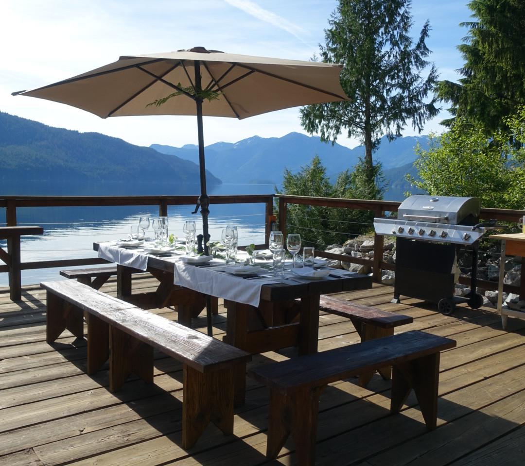 Outdoor Dinner at Klahoose Wilderness Resort