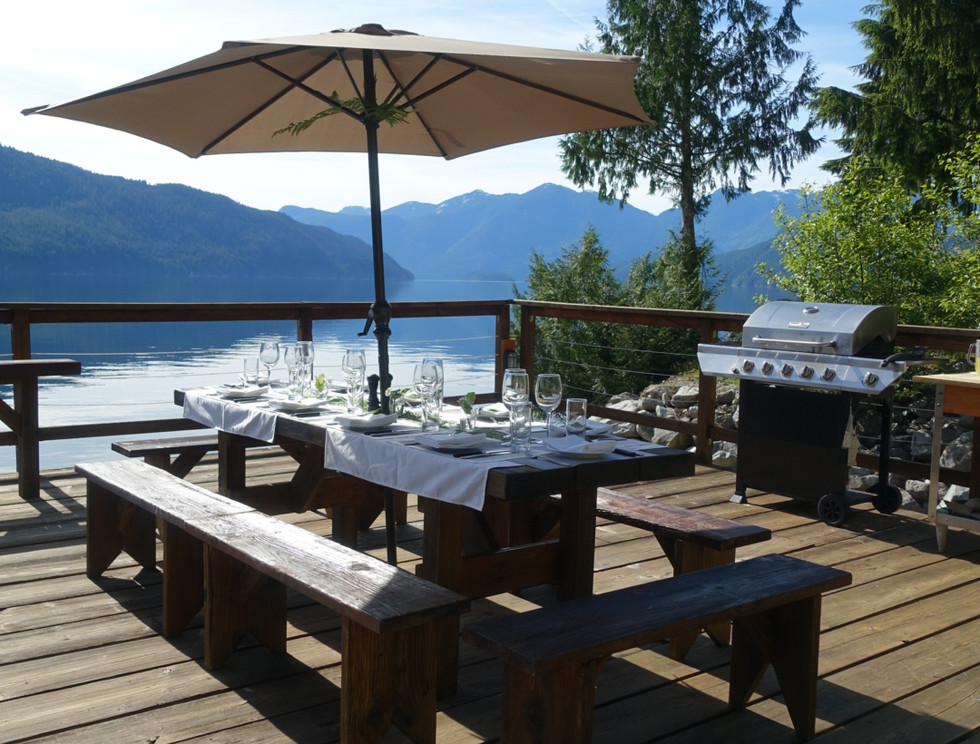 Outdoor Dinner at Klahoose Wilderness Resort