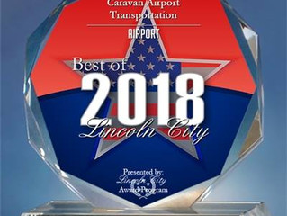 Caravan Shuttle Presented with 2018 Best of Lincoln City Award