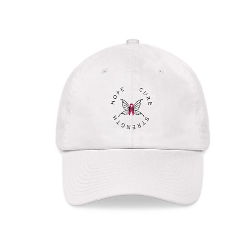 Strength hope cure hat - breast cancer awareness hat - Pink ribbon hat