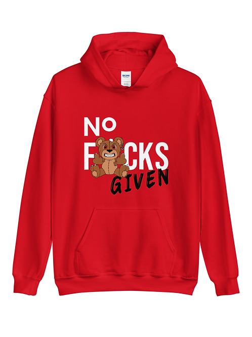 Unisex No F*cks Given Pullover Hoodie - Middle Finger Hoodie - F*ck You Hoodie