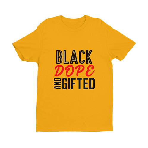 Unisex Black Dope And Gifted Premium Short Sleeve Shirt