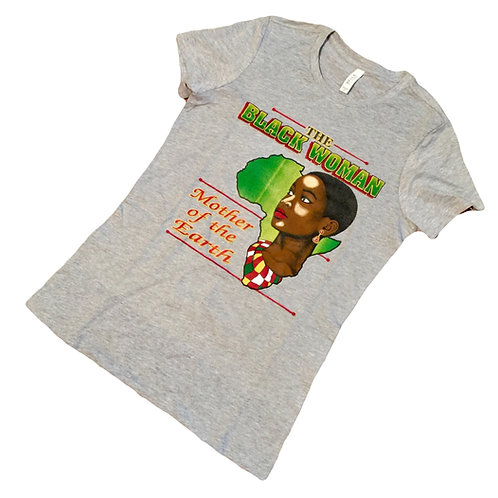 Black Woman Mother Of The Earth Shirt