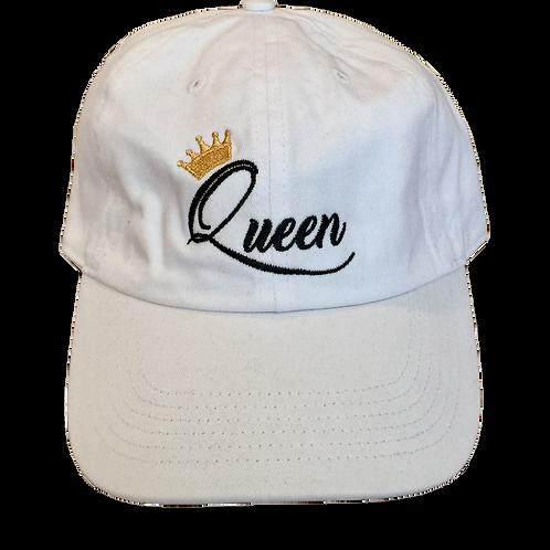 Embroidered Queen Dad Hat - Adjustable Denim Cap