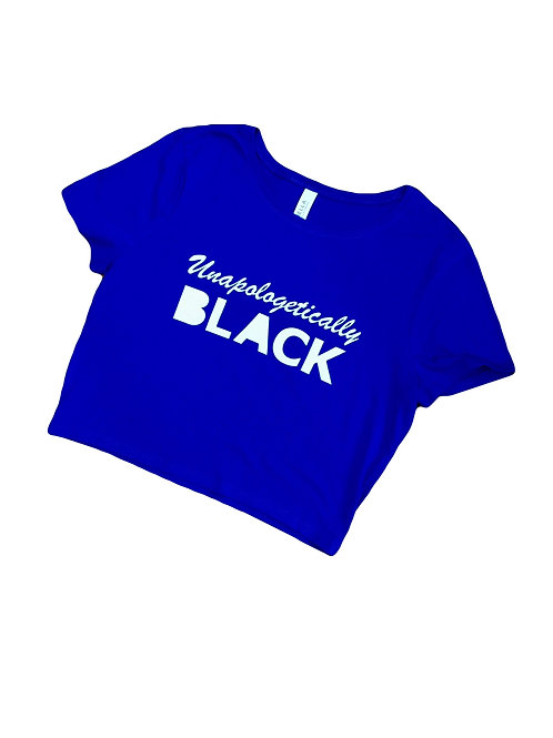 Unapologetically Black Crop Top Shirt - Pro Black Crop Top Shirt