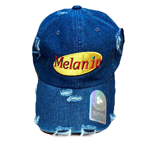 Melanin dad hat - adjustable melanin dad cap - Seinfeld style melanin dad hat -