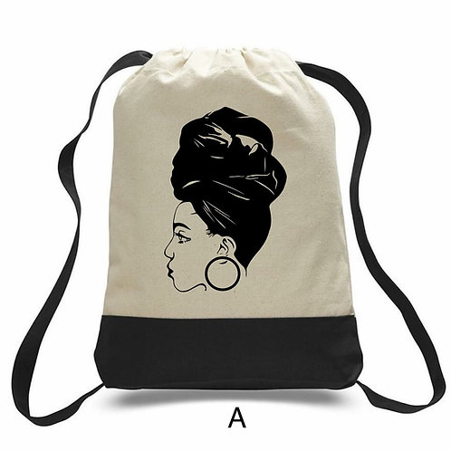 Natural hair back packs - Afrocentric Backpacks - Curly Hair Backpacks