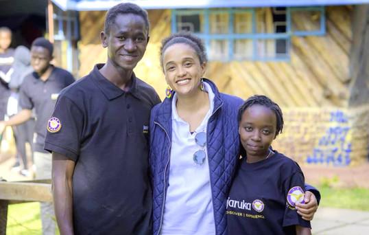 Director Ngina Kenyatta and some Kenyatta Trust scholars