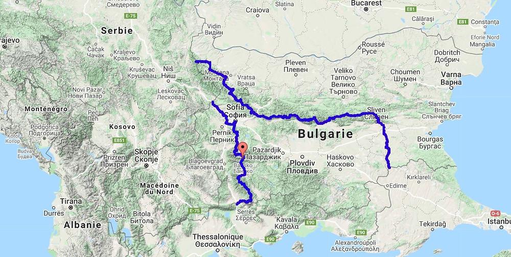 Itinéraire GPX Bulgarie - 2PVA