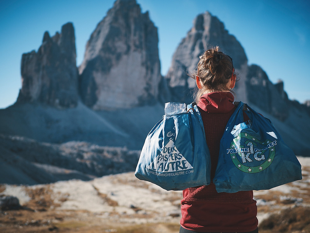 1KG FOR THE PLANET dans les Dolomites