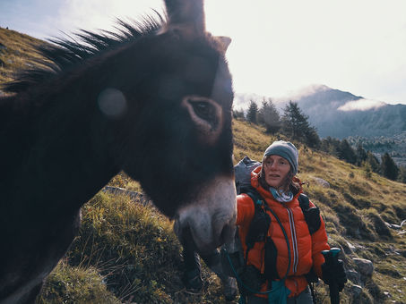 deux pas vers l'autre, 2PVA, thru-hike europe, ultralight hiking trip, europe, switzerland, alps, upper valais, donkey, marie