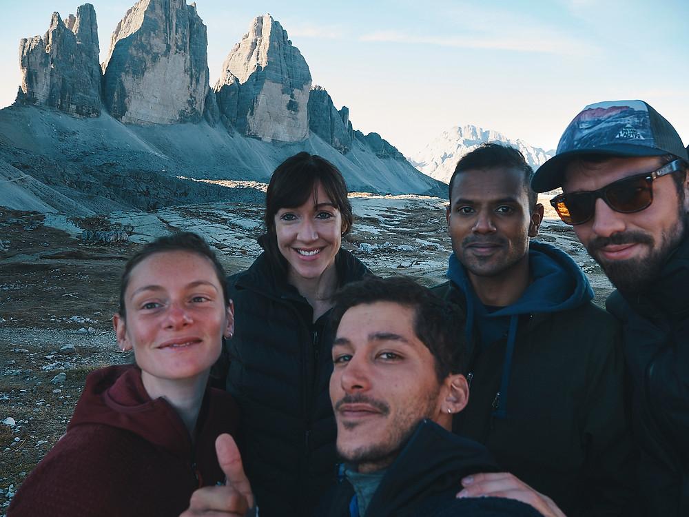 Three peaks, Tre Cime di Lavaredo, Dolomites, Italy