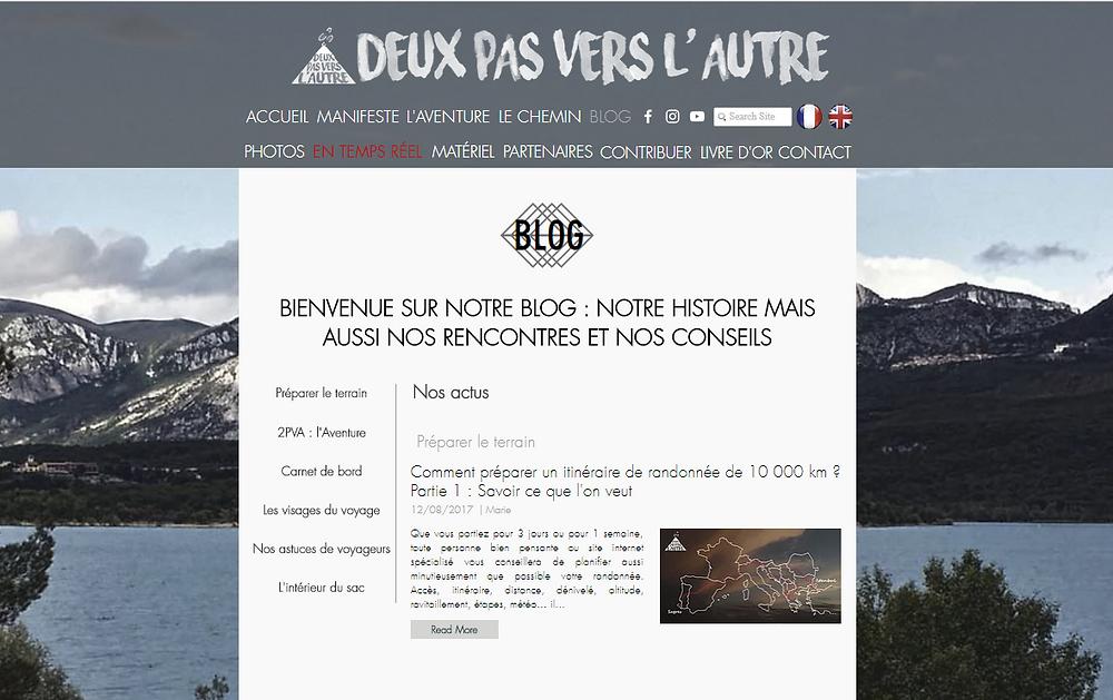 Blog Deux Pas Vers l'Autre