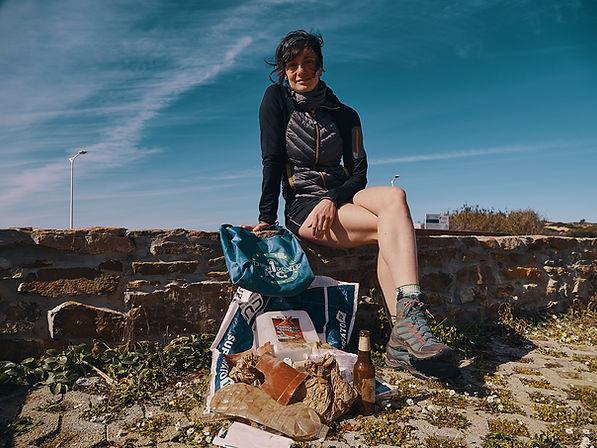 Marie, deux pas vers l'autre, 1kg for the planet, collecte déchets, portugal, traversée europe
