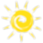 logo soleil, matériel randonné été