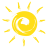 logo soleil, matériel randonnée été