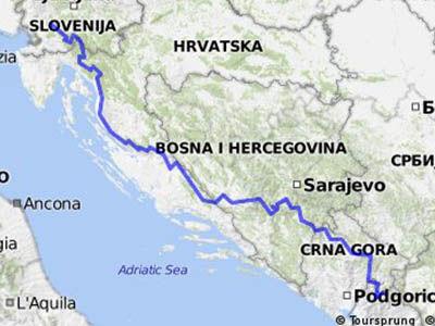 Via Dinarica, Balkans, randonné