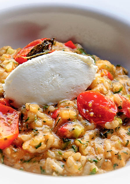 summer  vegeterian risotto