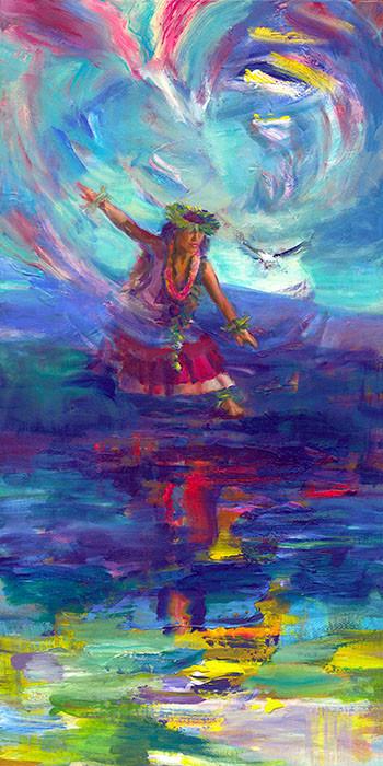 Hula Painting Captures the Spirit