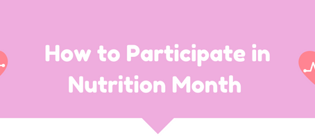 How to Participate in Nutrition Month