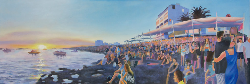 TIM CAIRNS | SUNSET SAN ANTONIO | 122 x 42cm | ORIGINAL
