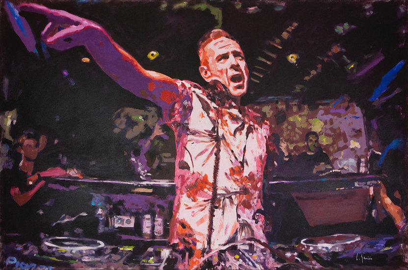 CARLOS GENICIO | FAT BOY SLIM, CREAM, AMNESIA | 120 X 80cm | ORIGINAL