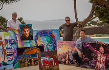 Original paintings from the DJ Art Ibiza collection