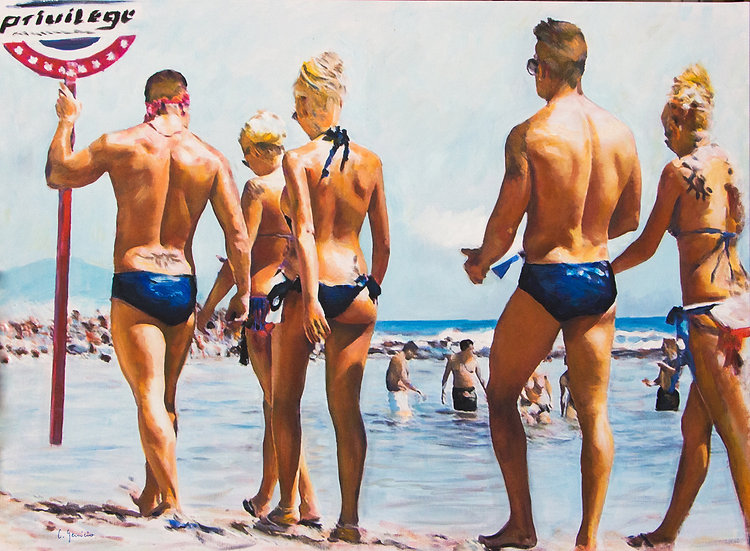 CARLOS GENICIO | BEACH PARADE | 100 x 75cm | ORIGINAL