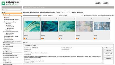 picturemaxx Institutions Datenmanagement