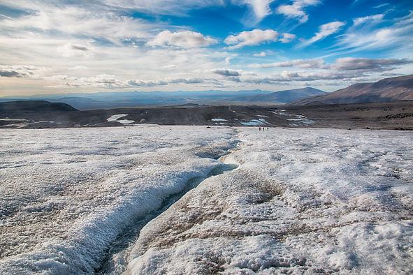 Borgarfjordur and Langjokull glacier day tour, Kaldidalur, Reykholt, Hraunfossar, Barnafoss, snow safari on Langjokull glacier