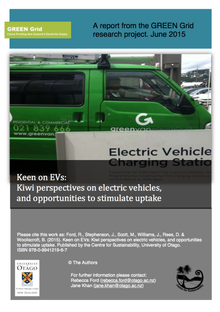 Keen on Electric Vehicles: Kiwi perspectives on electric vehicles, and opportunities to stimulate up