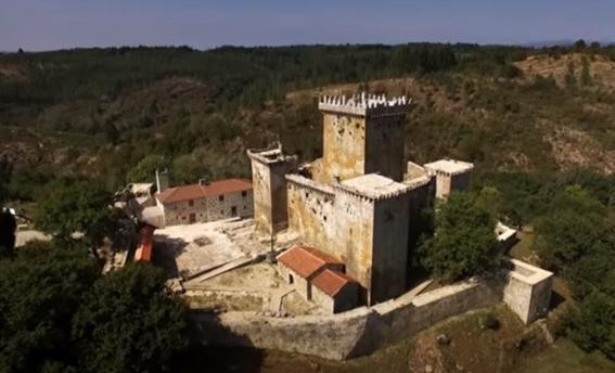 Vista aérea del Castillo de Pombre