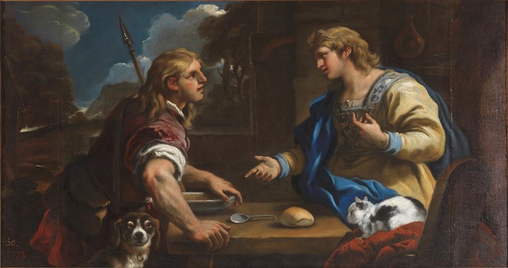 Esaú y Jacob. Luca Giordano. Museo del Prado