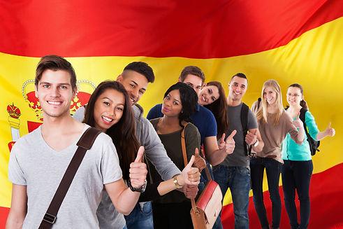 Grupo de estudiantes de español