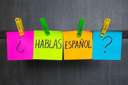 Pregunta ¿Hablas español?