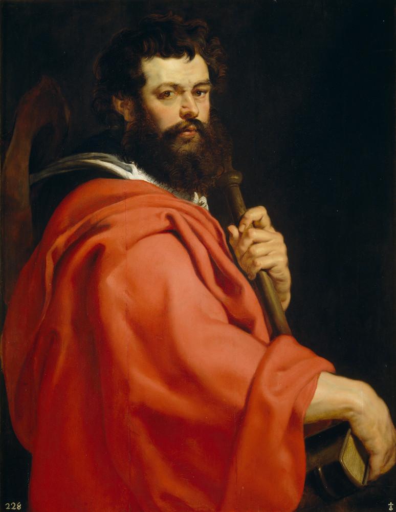 El Apostol Snatiago pintado por Rubens. EL cuadro está en el museo del Prado
