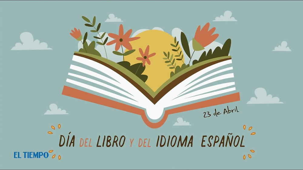 Cartel del Día del Libro y del Idioma Español