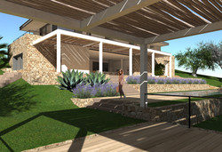 Vue pool house