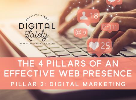The Four Pillars of an Effective Web Presence: #2 - Digital Marketing