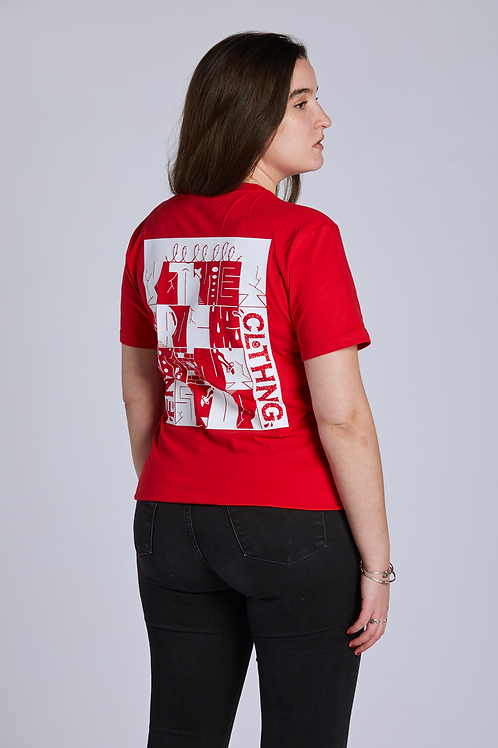 ART PRINT Shirt - Red