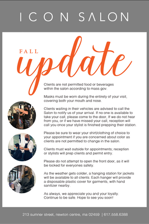 Fall Update for Icon Salon