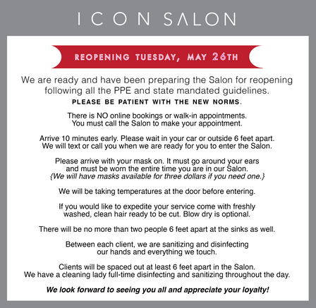 OPENING Tuesday, May 26th