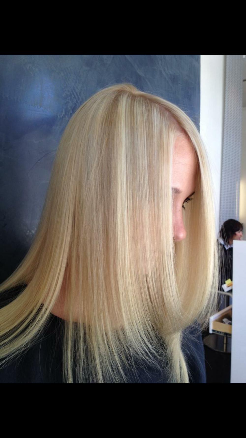 blonde newton haircut treatment healthy hair