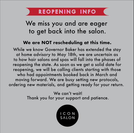 Reopening Info!