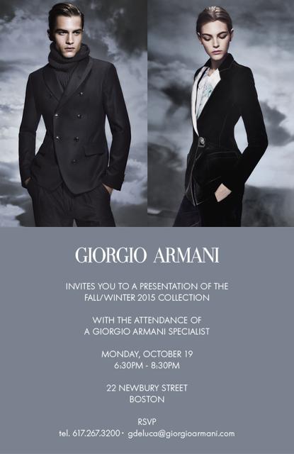Armani Fall/Winter Collection
