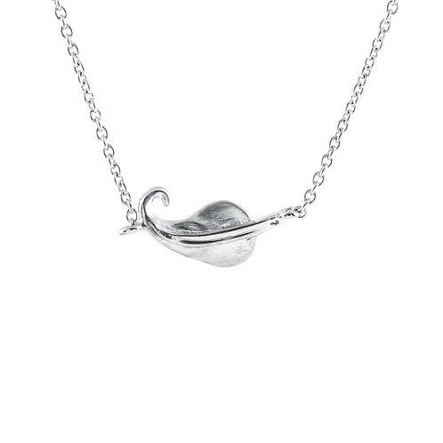 """'Tiny leaf' necklace, our cute tiny leaf suspended in a fine 18"""" chain."""