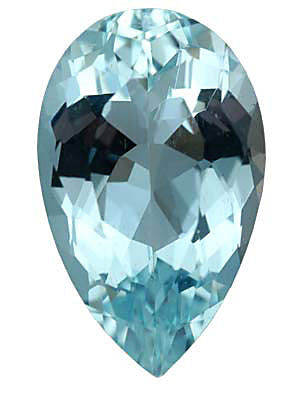 A fine pear shaped Aquamarine