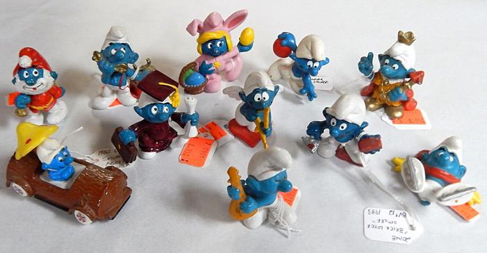 Various Retro PVC Smurf Figures